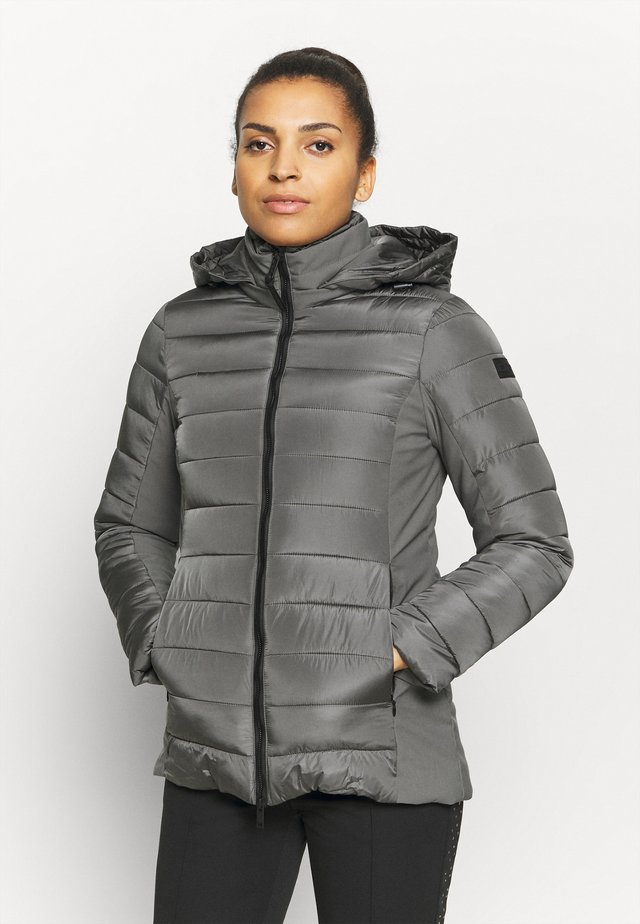 WOMAN MID JACKET HOOD - Winterjas - dust