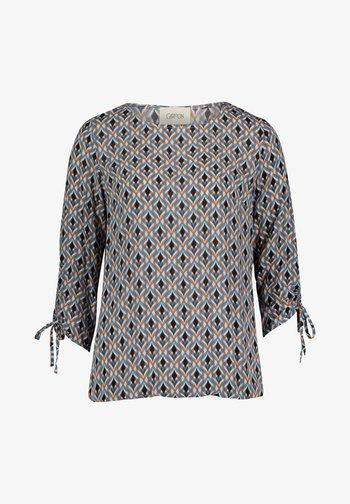 MIT MUSTER - Long sleeved top - weiß/blau