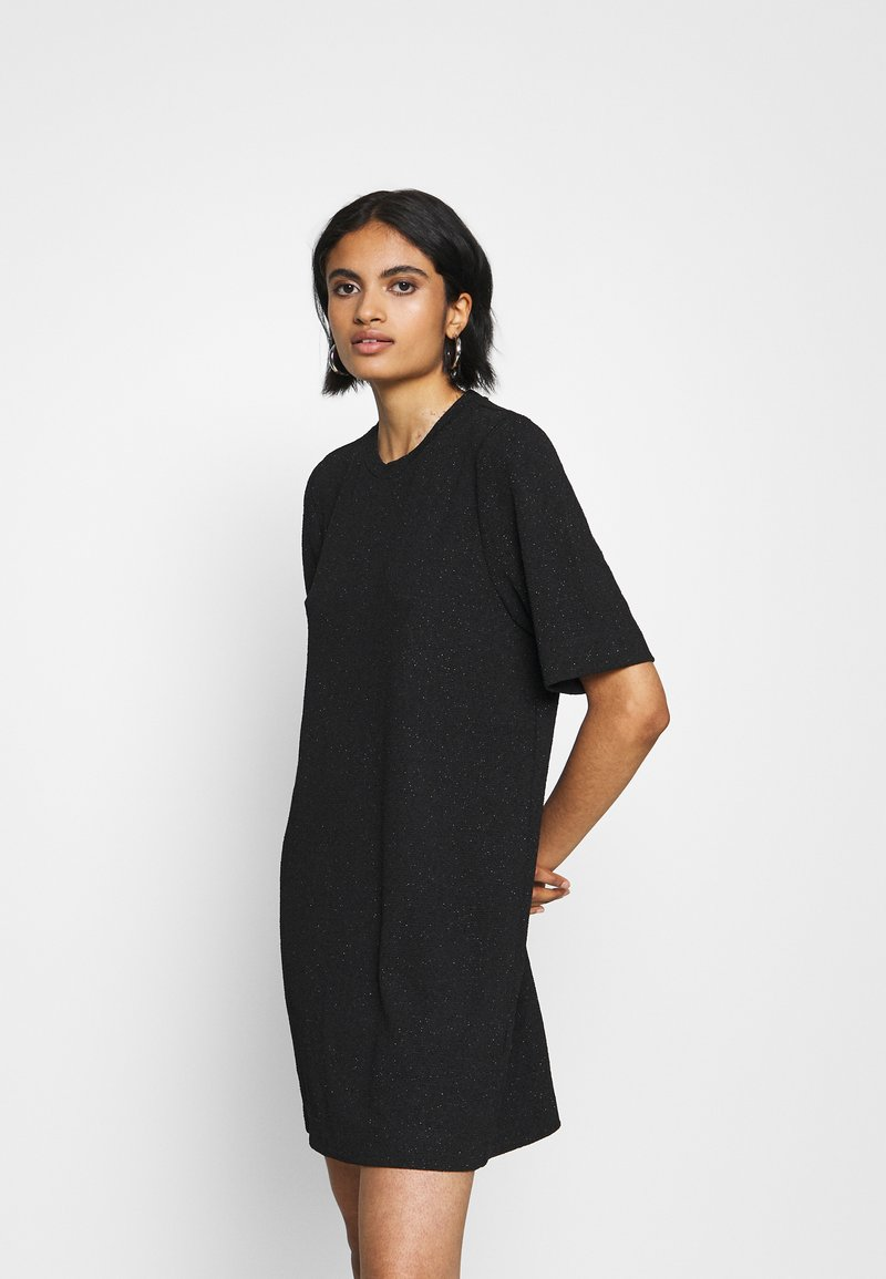 Monki - IZZY DRESS - Jerseykjole - black