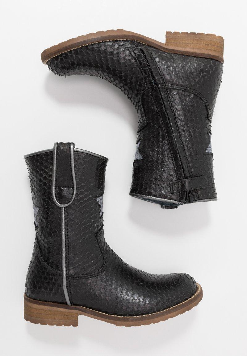 Hip - Cowboy/Biker boots - black scale