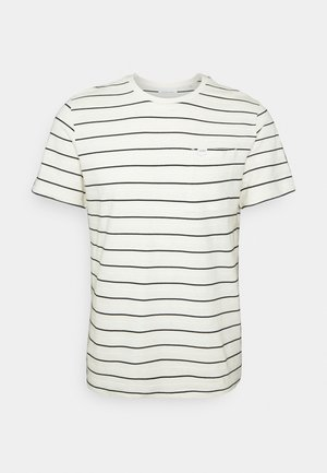 THOR STRIPED WITH STRUCTURE - T-shirt print - ecru