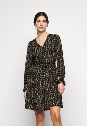 ONLJESS SHORT DRESS - Kjole - black/yellow