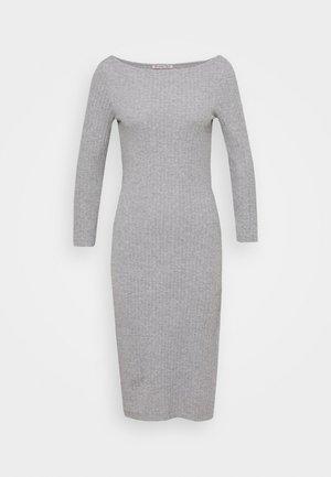 Sukienka dzianinowa - mottled grey
