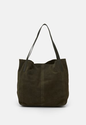 LEATHER - Shopping bag - khaki