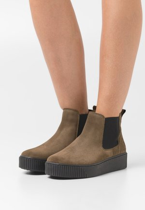 Ankle boots - olive/black