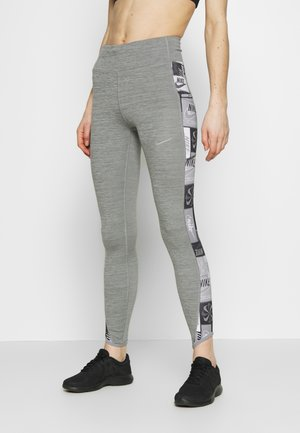 FAST - Leggings - iron grey/black/reflective silver