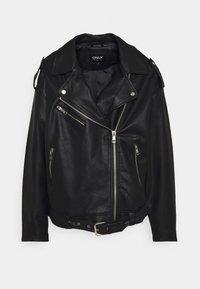 ONLBELL BIKER  - Faux leather jacket - black