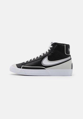 BLAZER MID '77 INFINITE - Höga sneakers - black/white/grey fog/particle grey