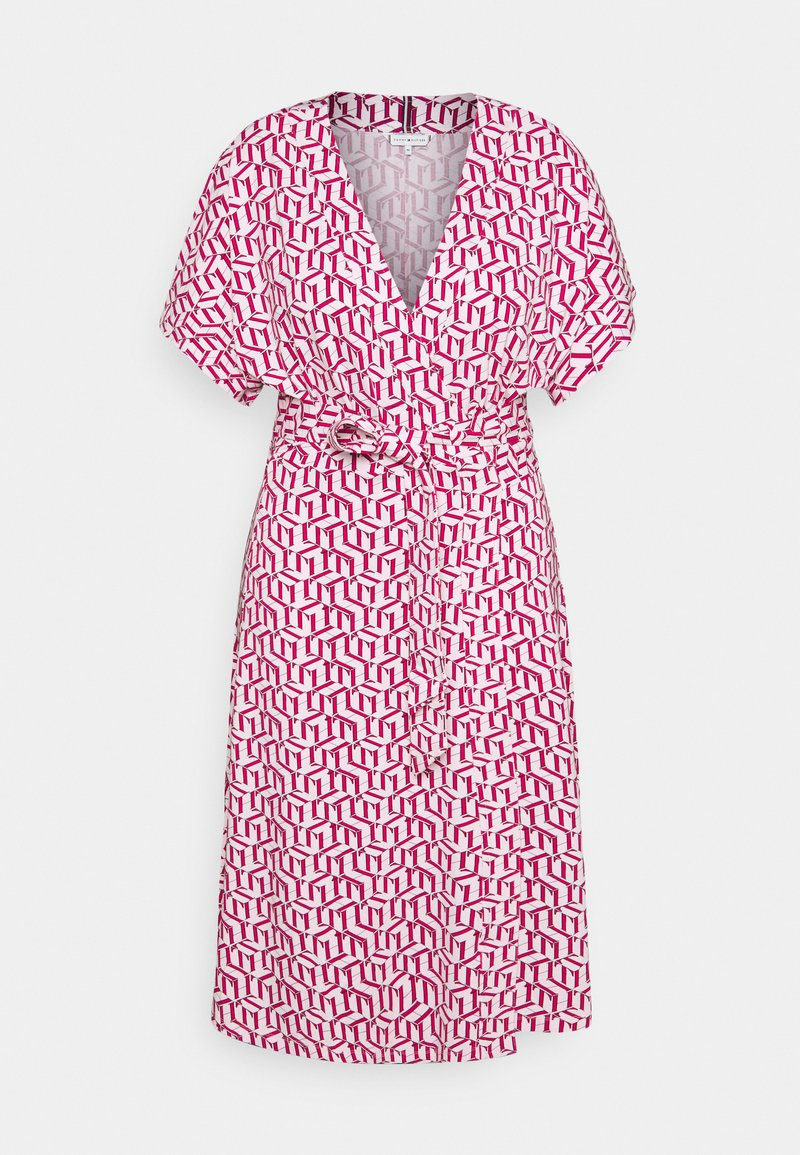 Tommy Hilfiger Curve - WRAP DRESS  - Jersey dress - pink