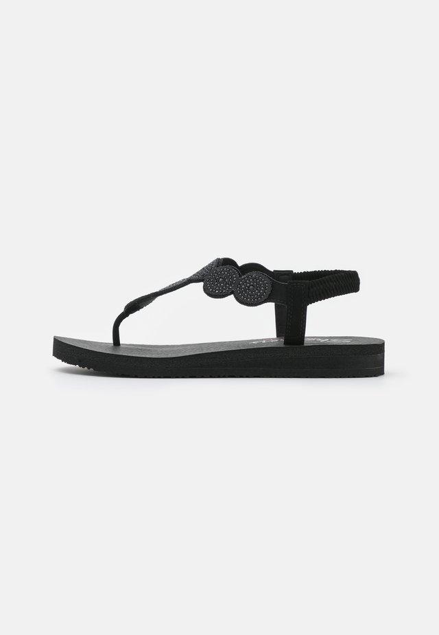 MEDITATION - T-bar sandals - black