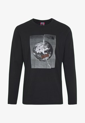 MENS GRAPHIC TEE - Long sleeved top - black/white