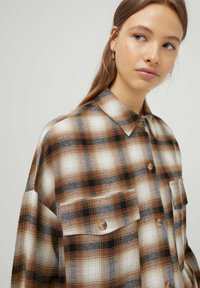 PULL&BEAR - Button-down blouse - mottled brown - 3