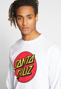 Santa Cruz - SANTA CRUZ UNISEX CLASSIC DOT TEE - Pitkähihainen paita - white - 3