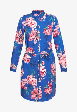 PEONIES SHIRT DRESS - Shirt dress - bright cobalt