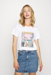 Noisy May - NMSAGA NATE  - T-shirt con stampa - bright white - 2