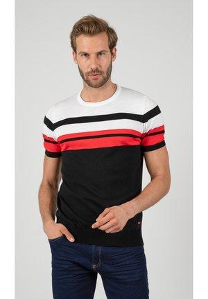 T-shirt med print - black\white