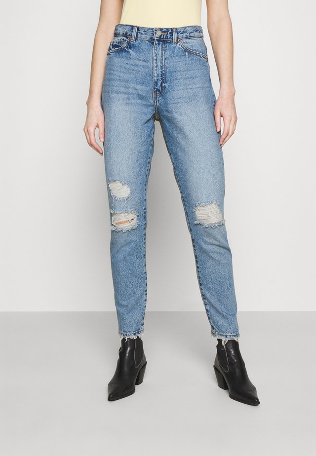 NORA - Jeans straight leg - blue jay ripped