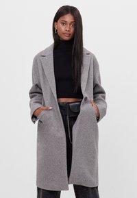 Bershka - Płaszcz wełniany /Płaszcz klasyczny - grey - 0