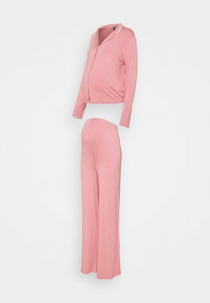 MATERNITY SHIRT WIDE LEG SET - Trousers - rose