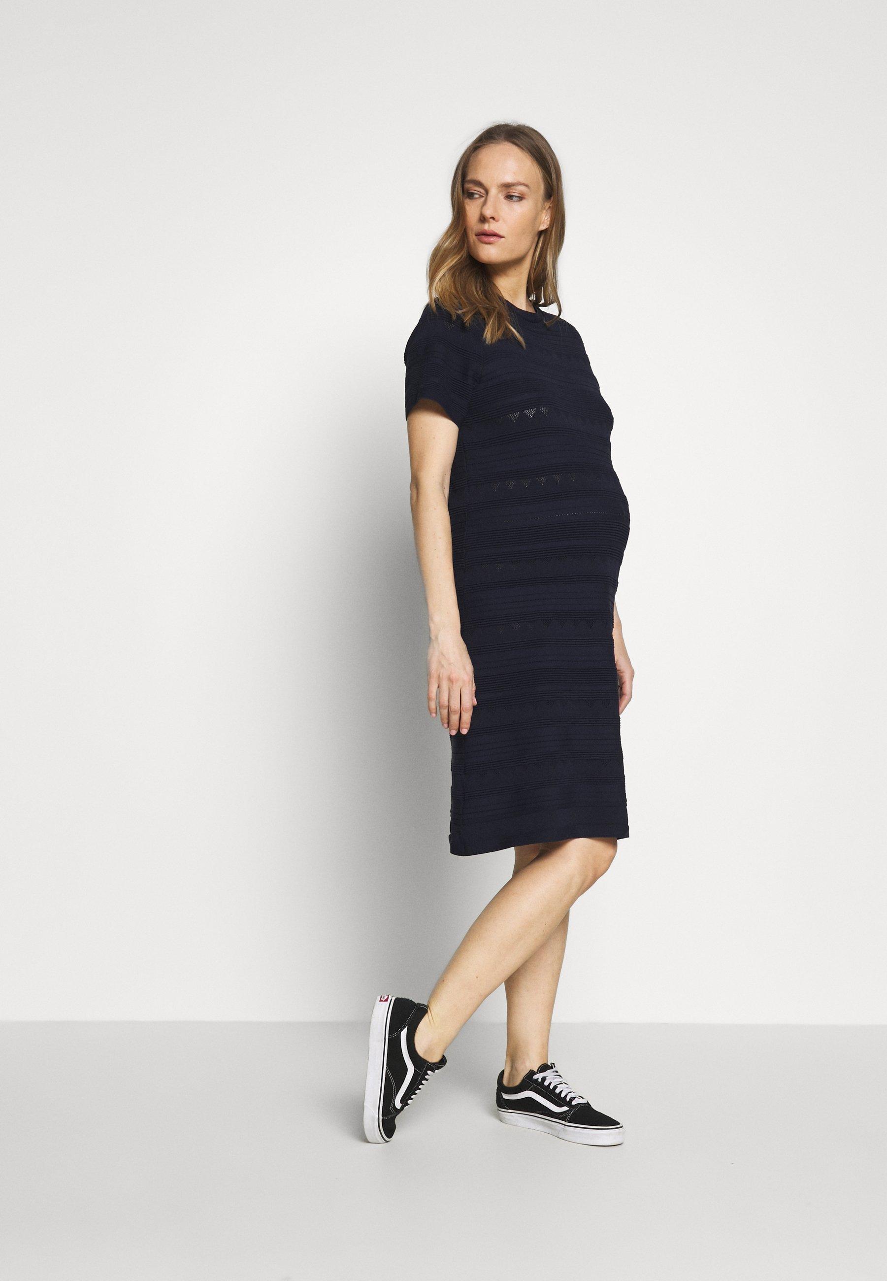 Dorothy Perkins Maternity MATERNITY PLAIN MAXI DRESS - Jerseykjole - navy