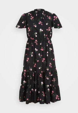TIERED SLEEVE DRESS - Maxi šaty - black