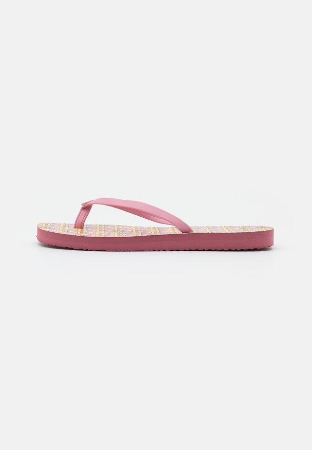 SQUARE TOE  - T-bar sandals - pink