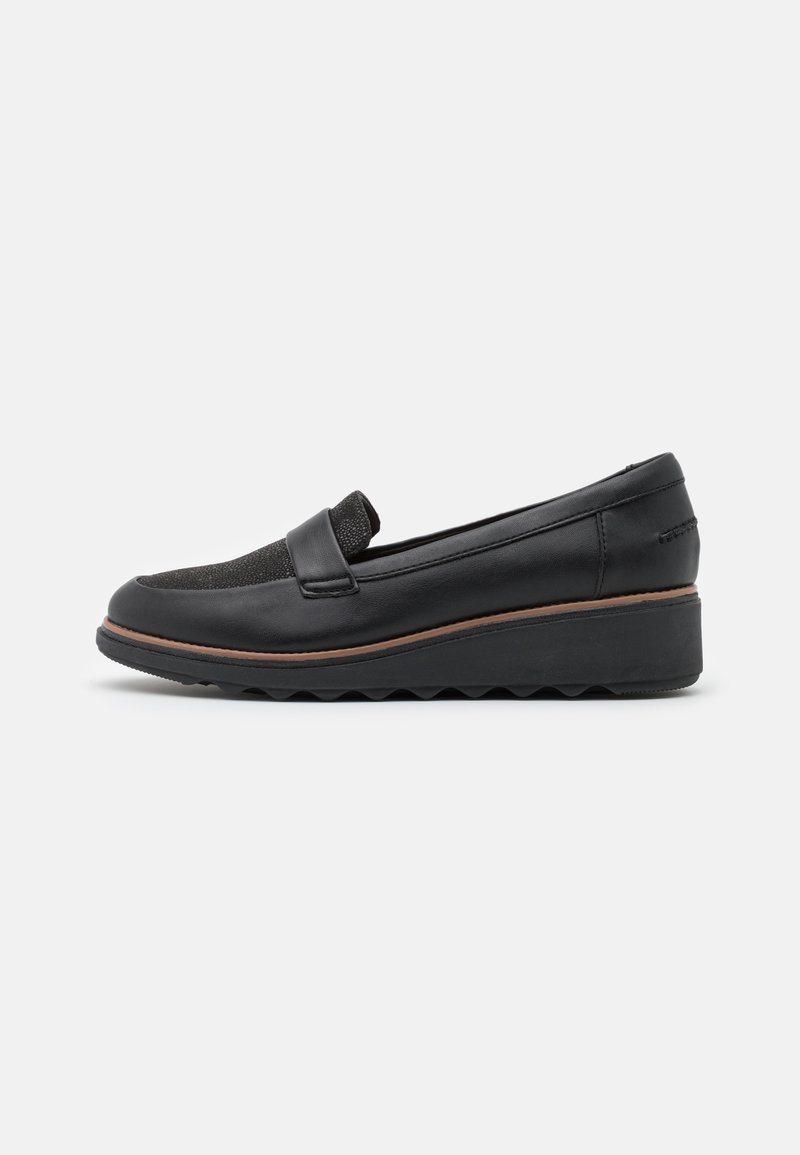 Clarks - SHARON GRACIE - Loaferit/pistokkaat - black