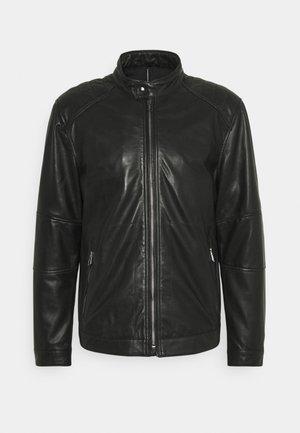 PEEL - Kožená bunda - black
