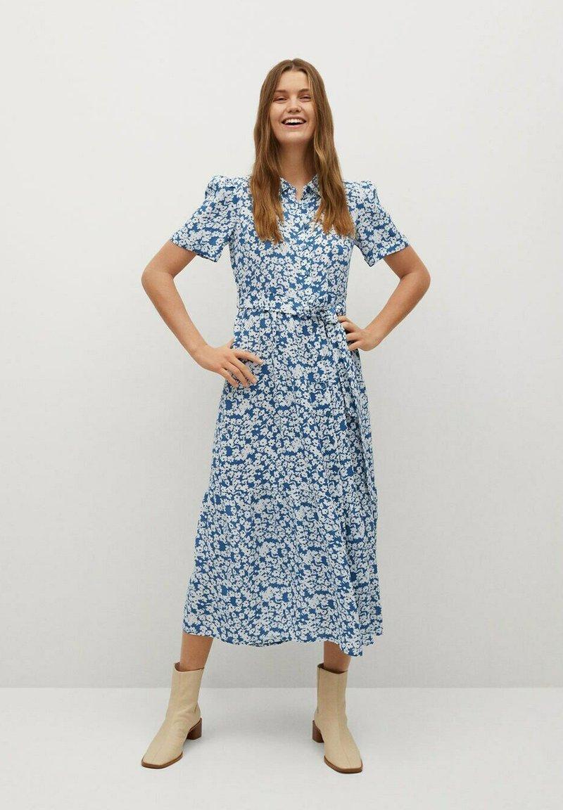Mango - SHIRTY - Shirt dress - azul