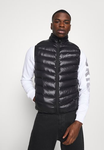 QUILTED GILET - Waistcoat - black