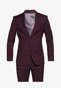 Limehaus - SUIT SLIM FIT - Kostym - bordeaux - 9