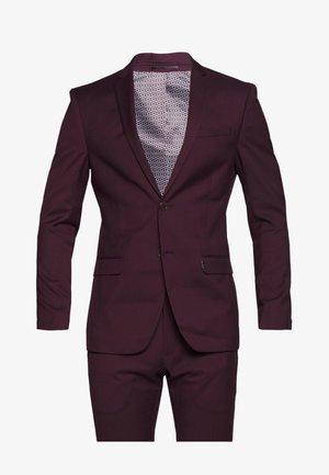 SUIT SLIM FIT - Kostym - bordeaux