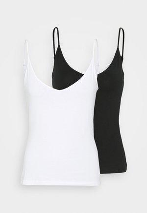 2ER PACK - Top - black/white