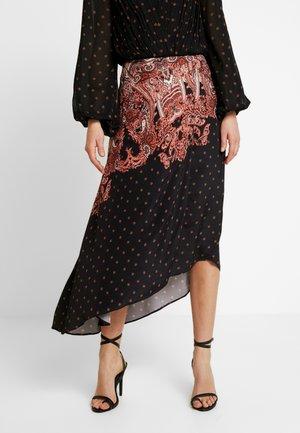 ELVIRA DRAPE SKIRT - Maxi skirt - black casablanca nights