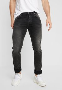 Nudie Jeans - GRIM TIM - Vaqueros slim fit - concrete black - 0
