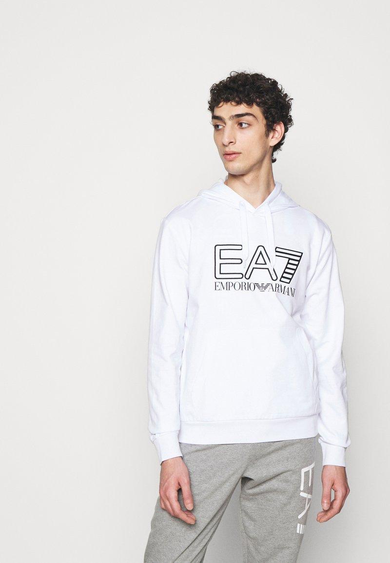 EA7 Emporio Armani - Hoodie - white/black