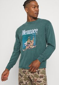 Mennace - BUTTERFLY GRAPHIC UNISEX  - T-shirt imprimé - washed mint - 3