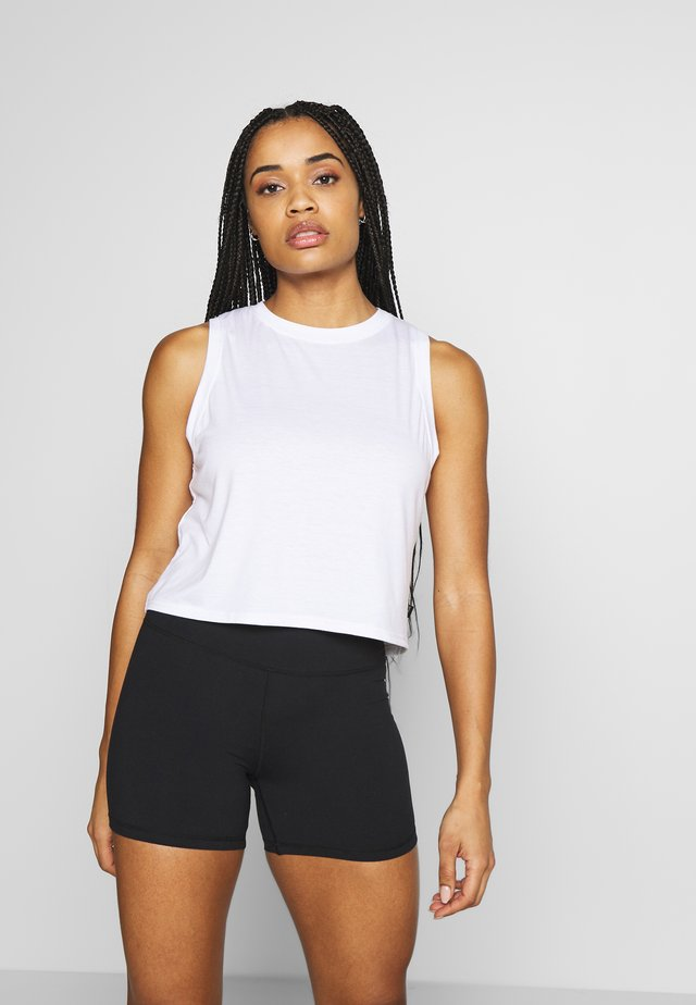 ACTIVE ROUCHED MUSCLE TANK - Toppe - white