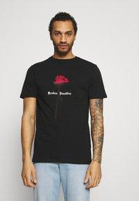 274 - PARADISE ROSE TEE - Print T-shirt - black - 0