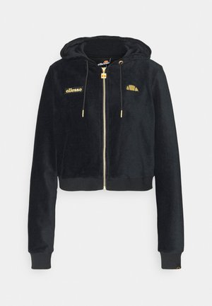 JUSTIA - Zip-up hoodie - black