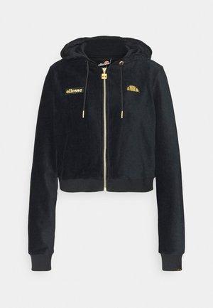 JUSTIA - Sweater met rits - black