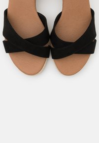 New Look Wide Fit - WIDE FIT PRAWN - Sandalias de cuña - black - 5