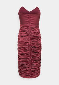Missguided - RUCHED SWEETHEART NECK MIDI DRESS - Cocktail dress / Party dress - burgundy - 1