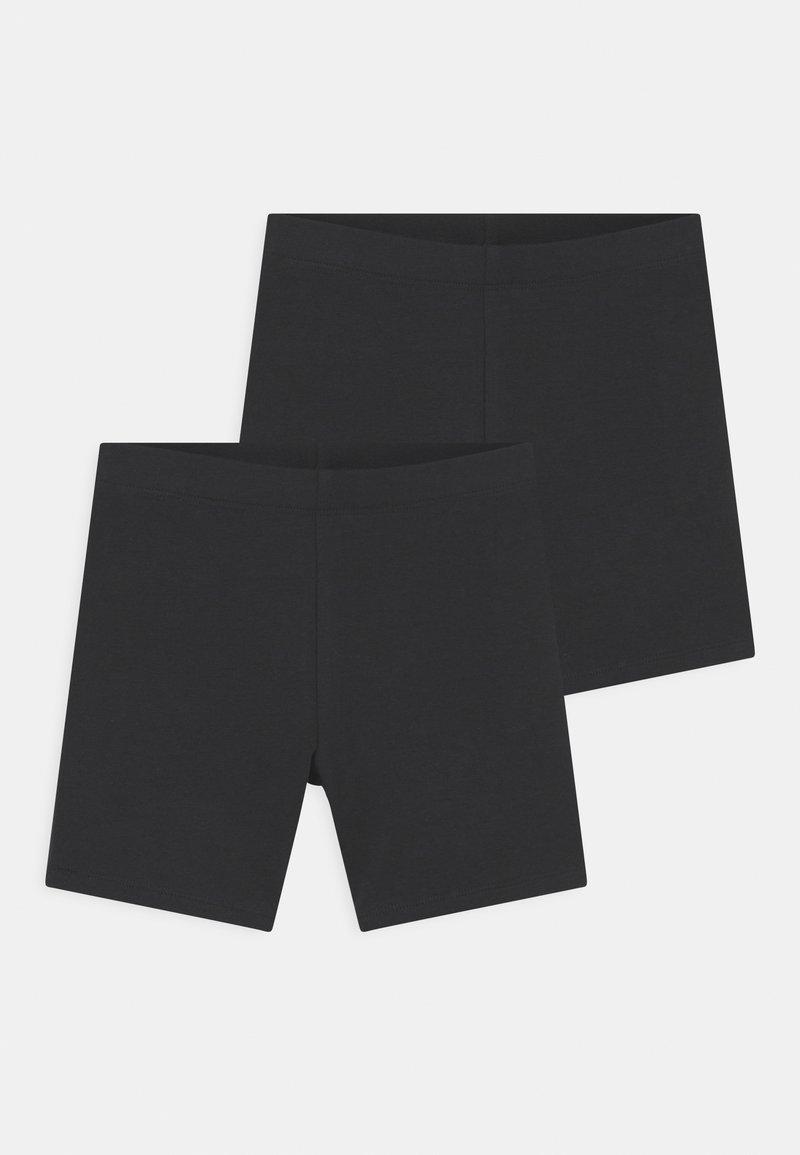 Gina Tricot Mini - MINI BIKER 2 PACK - Shorts - offblack
