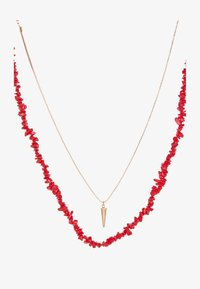 Necklace - chinese red/gold-coloured