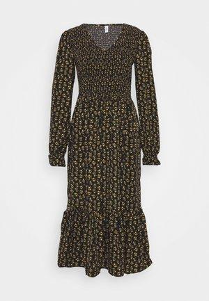 ONLJESS CALF DRES - Day dress - black/yellow