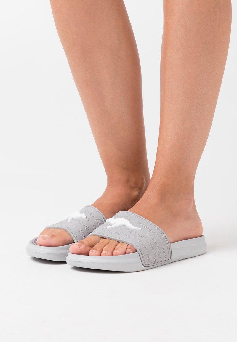 KangaROOS - KANGASLIDE - Sandály do bazénu - vapor grey
