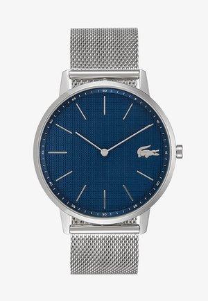 MOON - Klokke - silver-coloured/blue