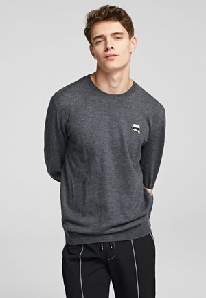 KARL IKONIK - Sweter - dark grey melange