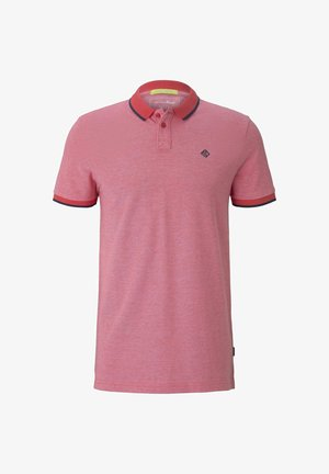 Polo - plain red melange